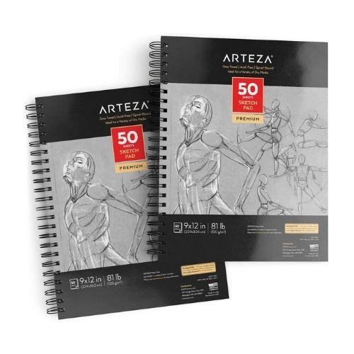Arteza Gray-Toned Sketchbooks