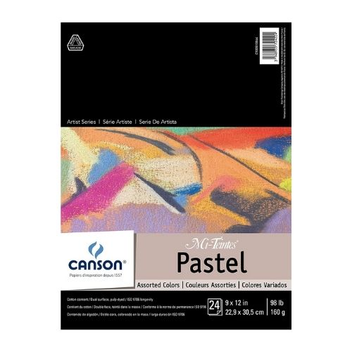 CANSON Mi-Teintes Pastel Assorted Colors Pad