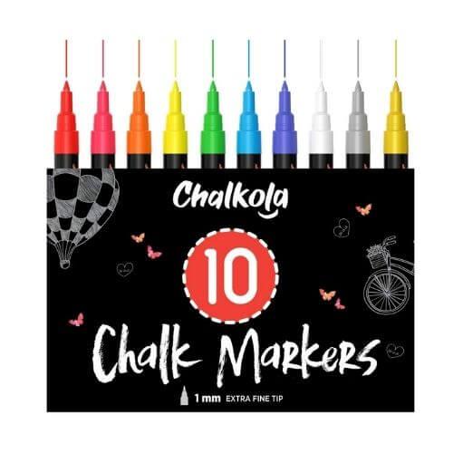 Chalkola Extra Fine Tip Liquid Chalk Markers