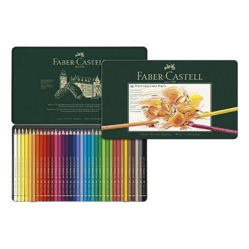 Faber-Castel Polychromos Colored Pencil Set With Metal Tin