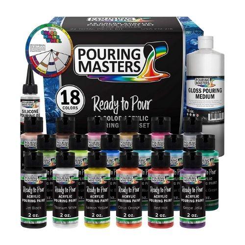 US Art Supply Acrylic Pouring Paint Set