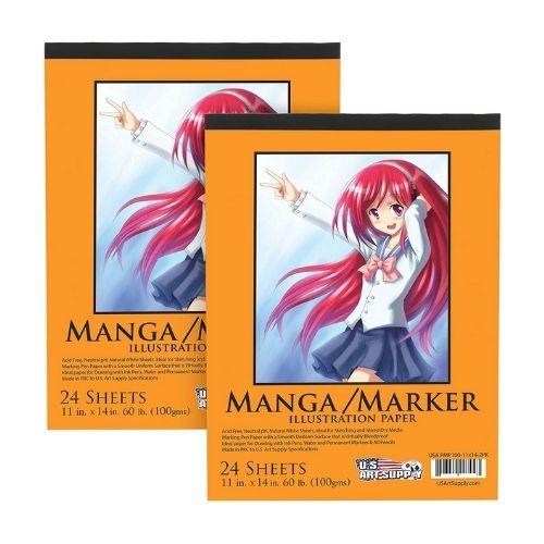 US Art Supply Premium Manga-Marker Paper Pad