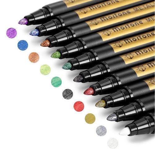 Morfone Metallic Marker Pens for Wood