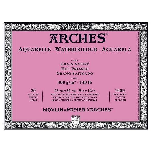 Arches Watercolor Block 140 Pound Hot Press Paper
